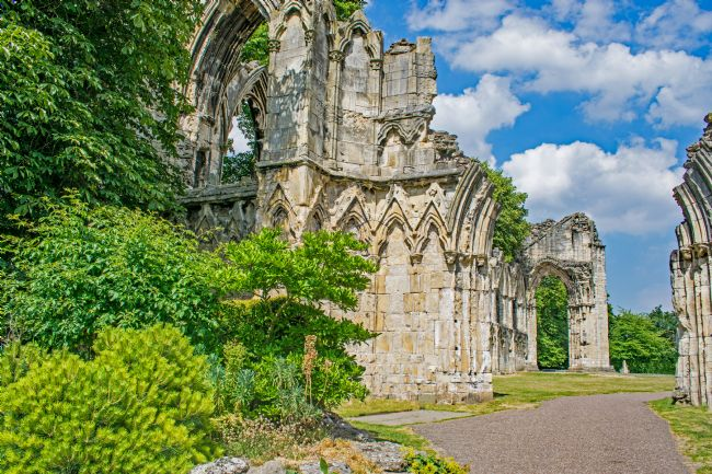 Robert  Gipson | Ruins of St Mary's Abbey in the city of York, Yorkshire,