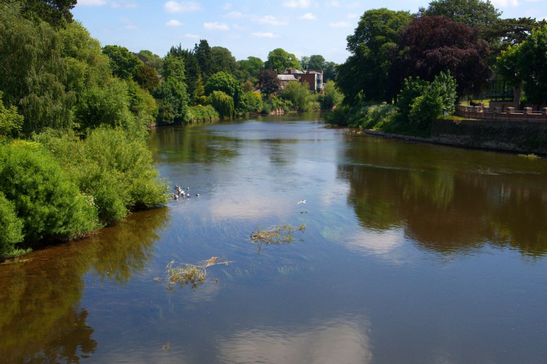 Chris Day | River Wye From the old bridge Hereford