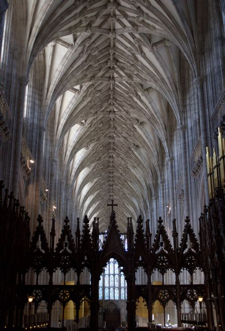 Chris Day | Winchester Cathedral Nave ceiling from the Quire.