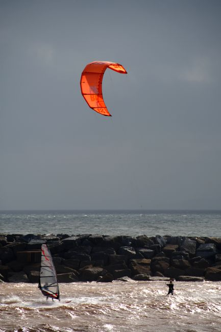 Chris Day | A kite surfer and a wind surfer