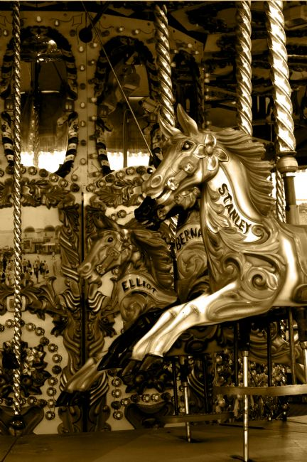 Chris Day | Carousel in Sepia