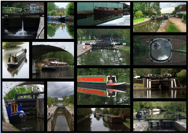 Chris Day | Grand Union Canal collage