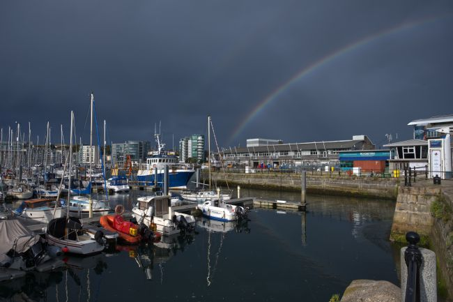 Chris Day | Double Rainbow over Sutton Harbour
