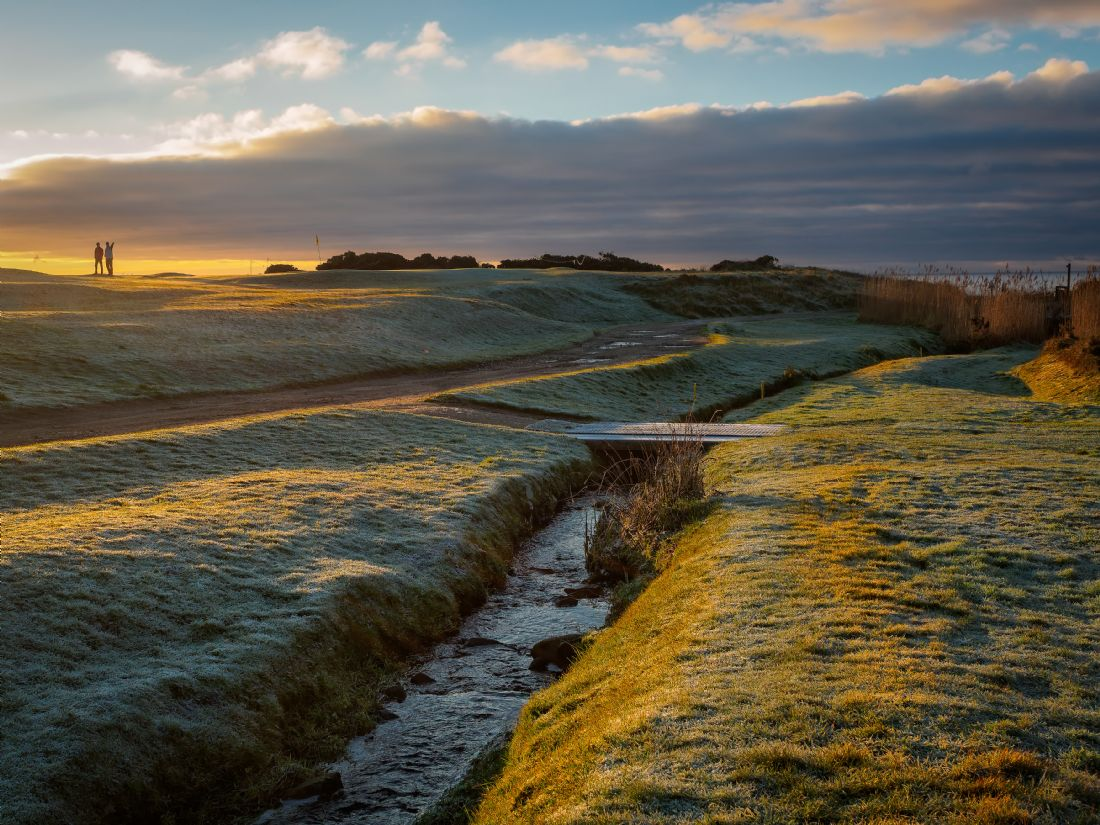 David Brookens | Frosty 1st Green at Shiskine