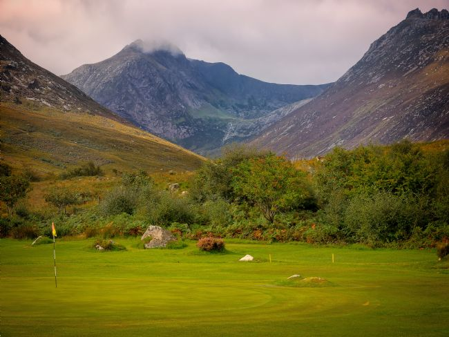 David Brookens | The 5th Green at Corrie Golf Club, Isle of Arran.