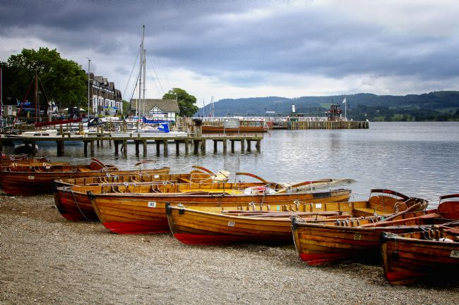 pauline tims | Rowing Boats at Ambleside, Lake District, UK