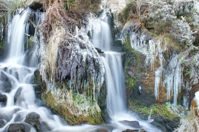David Birchall | Twin Winter Waterfalls