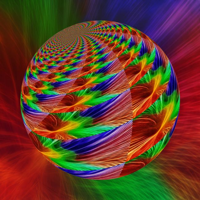 Kaye Menner | Colorful Abstract Globe