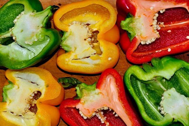 Kaye Menner | Freshly Cut Peppers - Capsicum