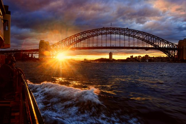 Kaye Menner | Harbour Bridge Sunset
