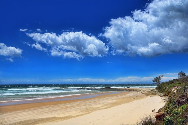 Kaye Menner | Windy Day Oxley Beach NSW Australia 2
