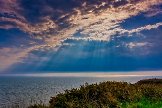 David Hollingworth | Sun Rays over Bridlington Bay