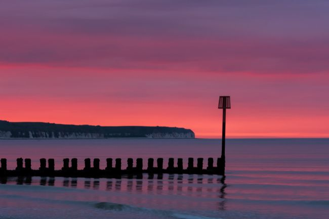 David Hollingworth | Red Dawn over Flamborough Head