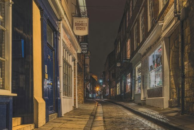David Hollingworth | The Shambles at Nightime