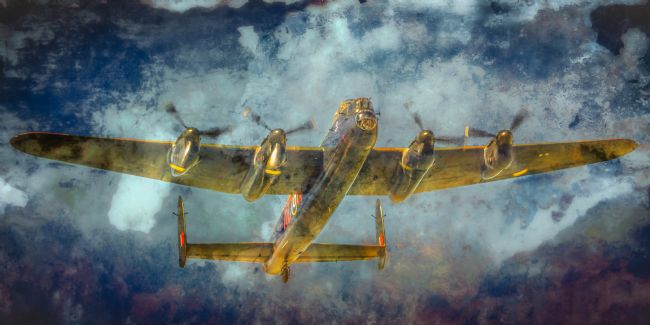 Cyndy Duff | Lancaster Bomber In The Clouds
