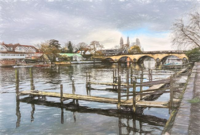 Ian Lewis | Landing Stages At Henley