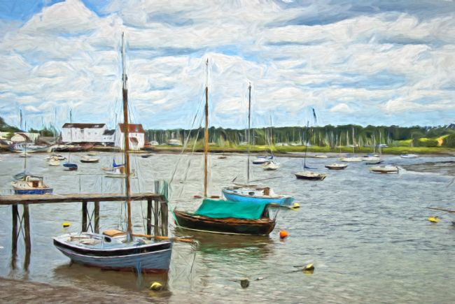 Ian Lewis | Moored Boats At Woodbridge