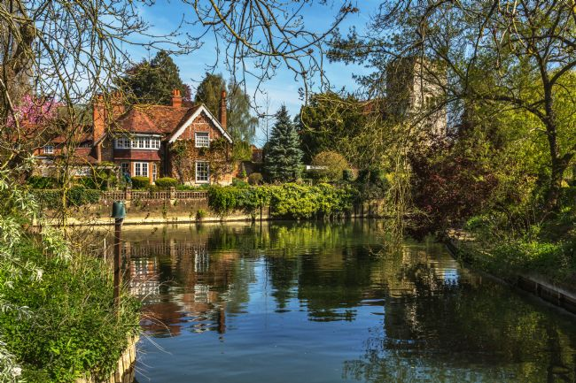 Ian Lewis | A Backwater At Goring on Thames