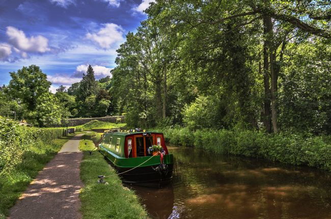 Ian Lewis | Towpath at Talybont on Usk