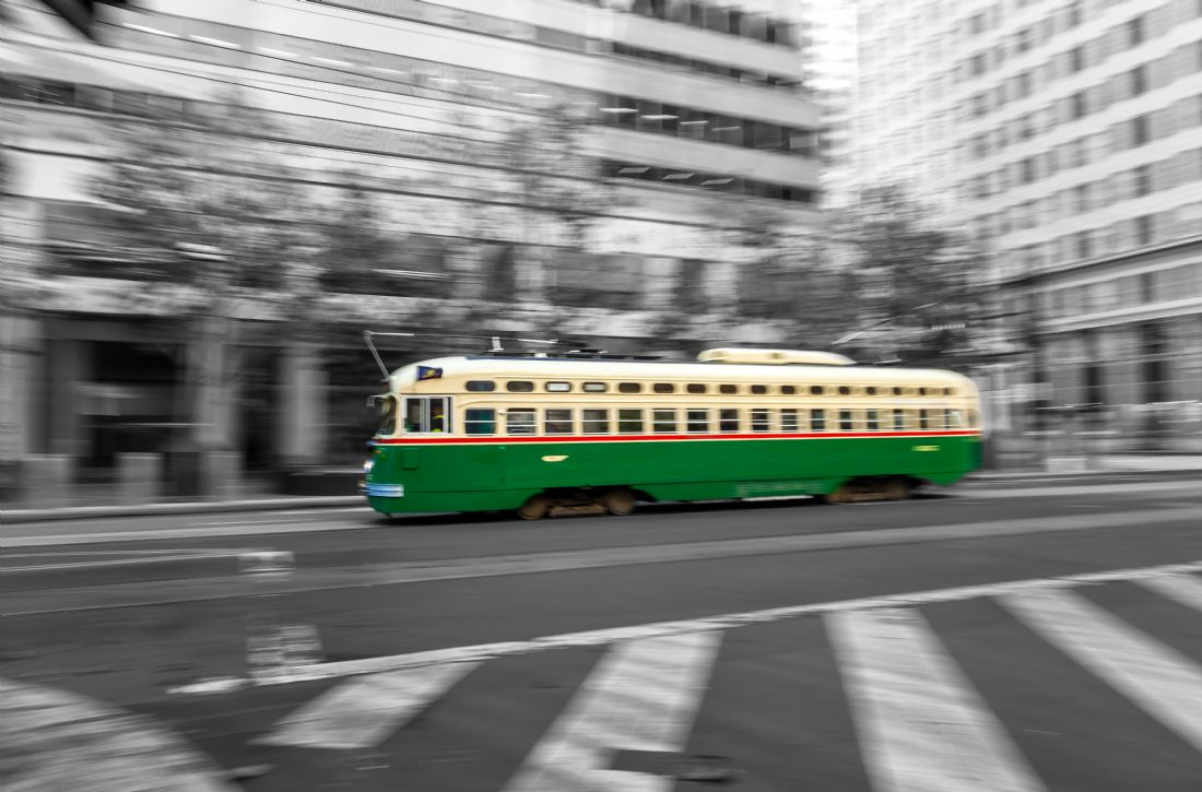 jonathan nguyen | Green Trolley Car bw