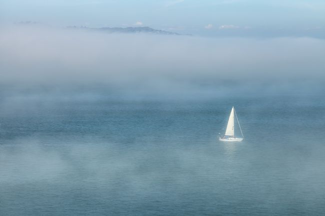 jonathan nguyen | sailboat and fog