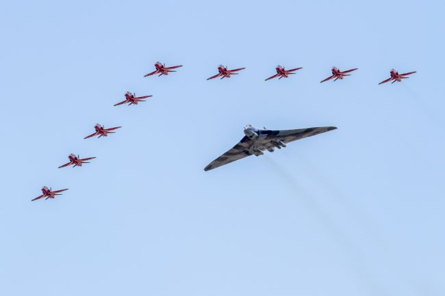 Ken Brannen |  Vulcan Bomber Flypast with Red Arrows
