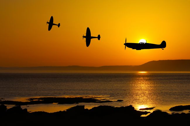 Ken Brannen | Spitfire at Sunset