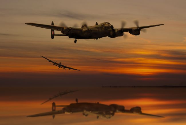 Ken Brannen | Lancaster Bombers at Sunset