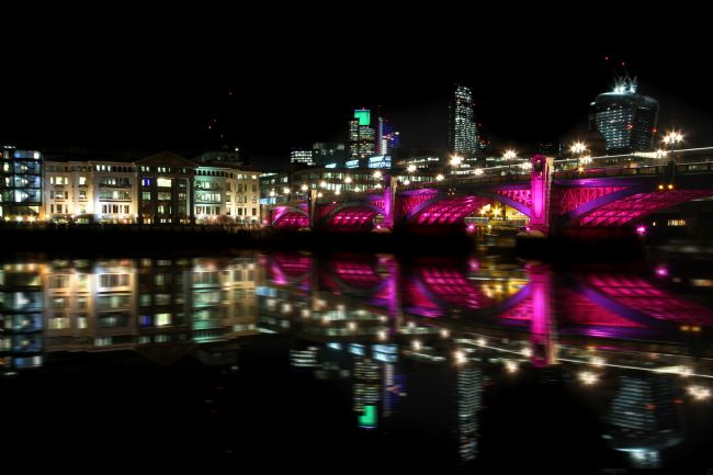 Ken Brannen | London Bridge with Pink lighting
