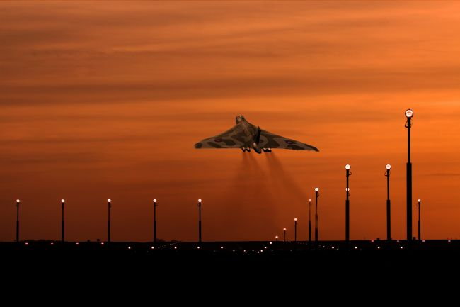 Ken Brannen |  Vulcan Bomber sunset take off