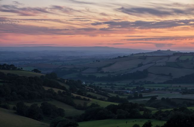 Peter Hemington | Sunset over the Exe valley