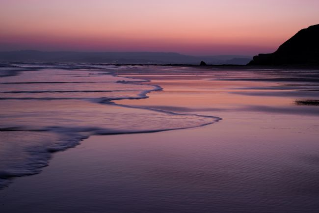 Pete Hemington | Sunset over Exmouth beach