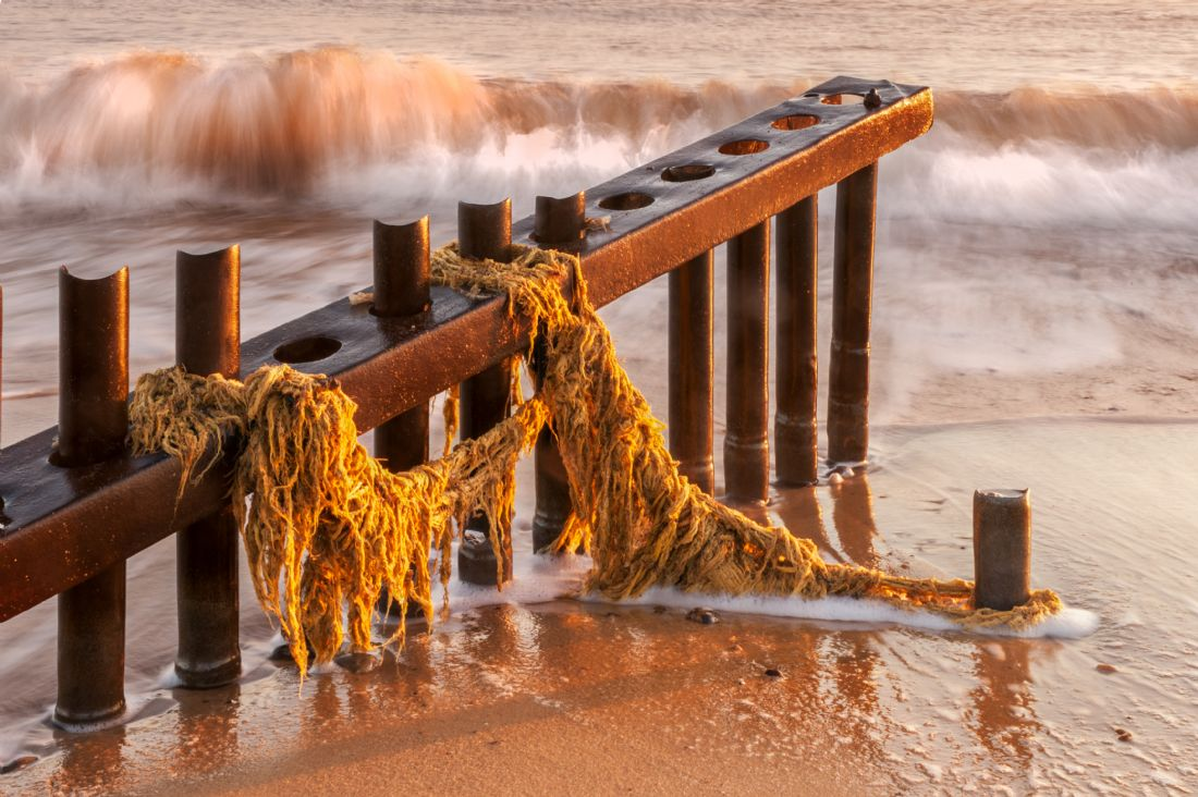 Stephen Mole | Caister groyne with fishing nets