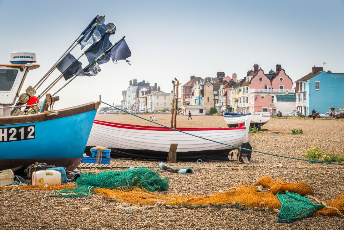 Stephen Mole | Fishing boats at Aldeburgh
