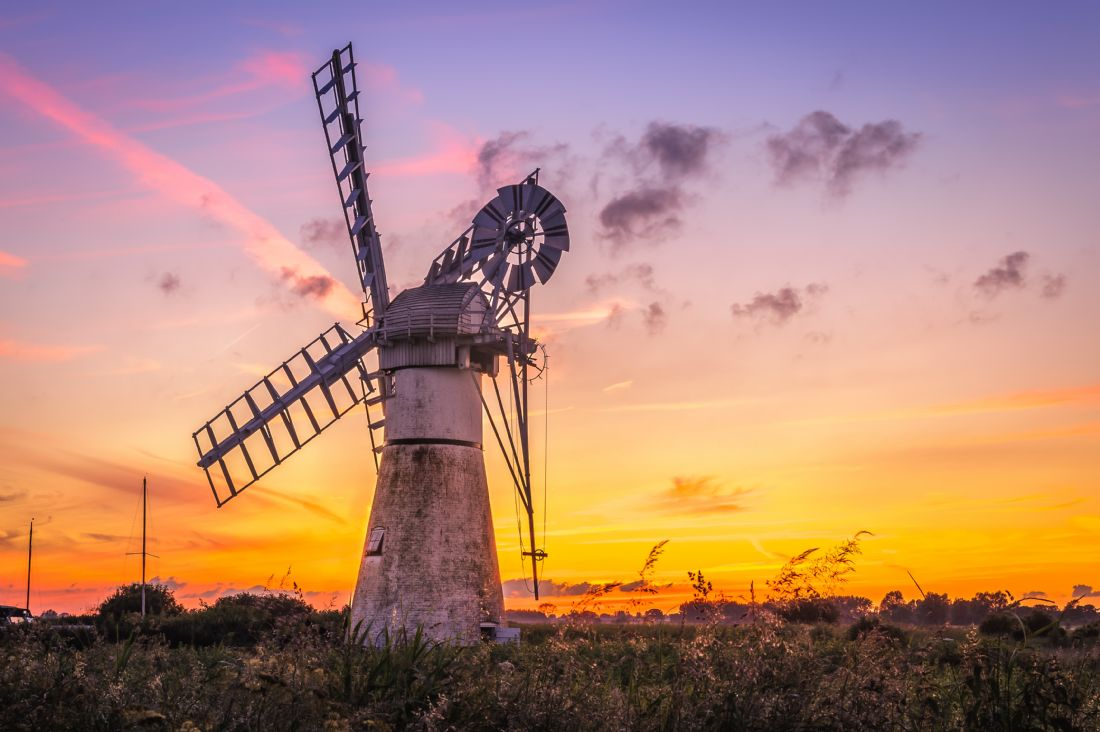Stephen Mole | Sunset at Thurne Mill