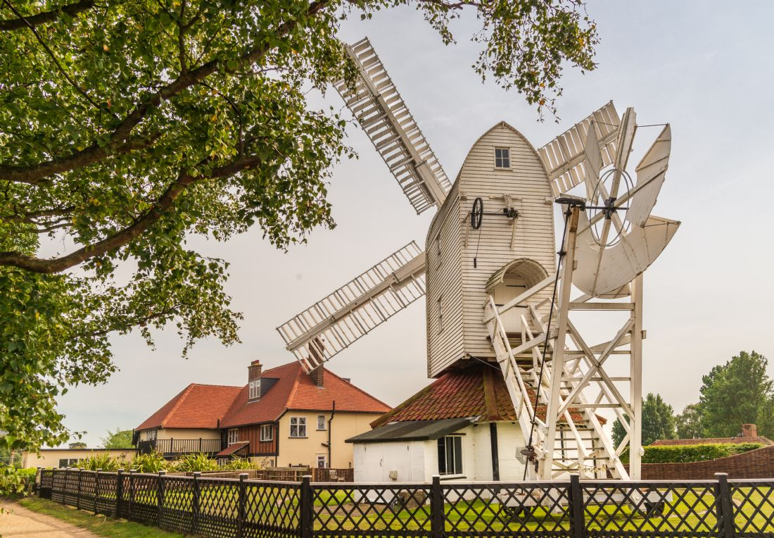 Stephen Mole | White post mill at Thorpeness