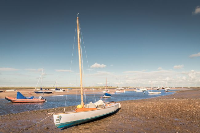 Stephen Mole | Boats on Morston Quay