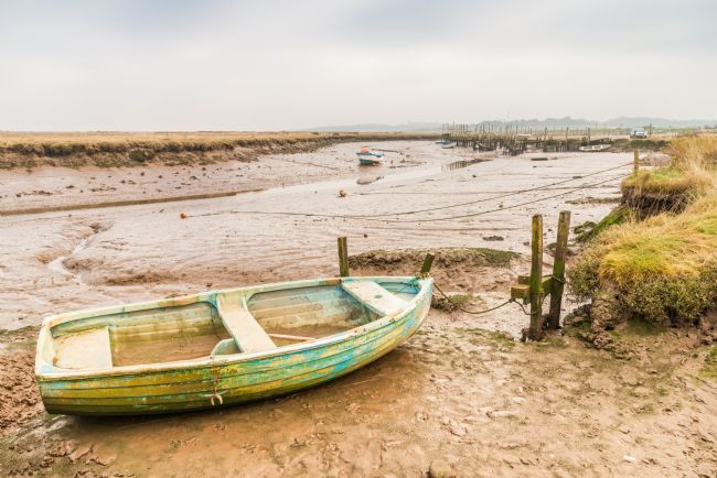 Stephen Mole | Small boat at Morston Quay