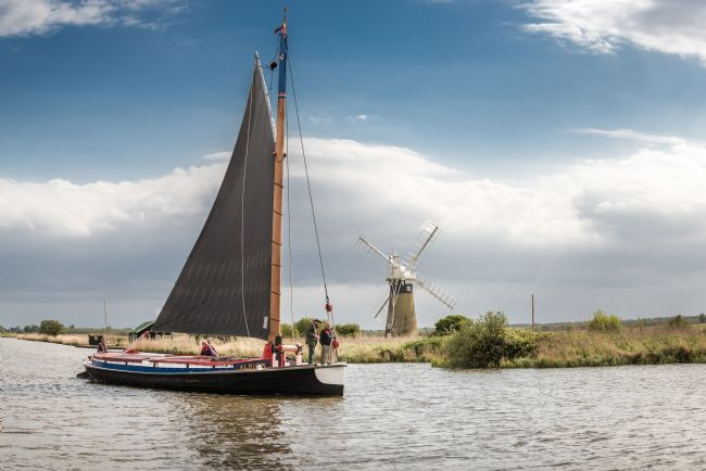 Stephen Mole | Wherry 'Albion' at St Benets Mill
