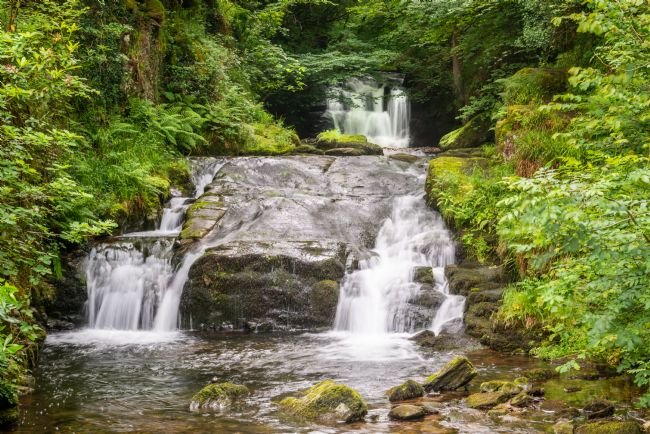 Stephen Mole | Waterfall at Watersmeet