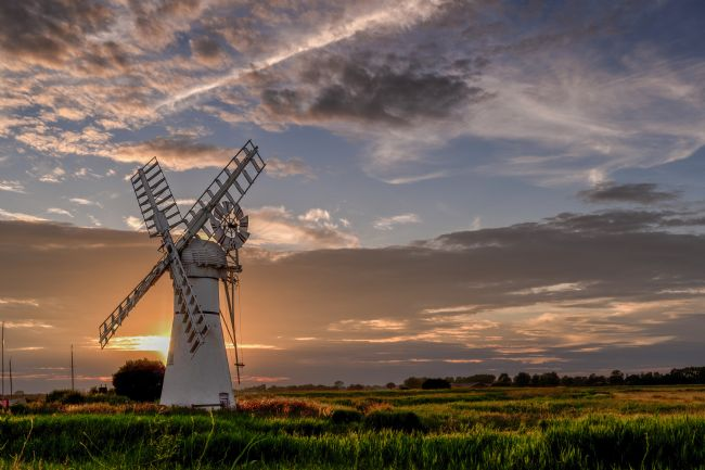 Stephen Mole | Thurne Mill sunset