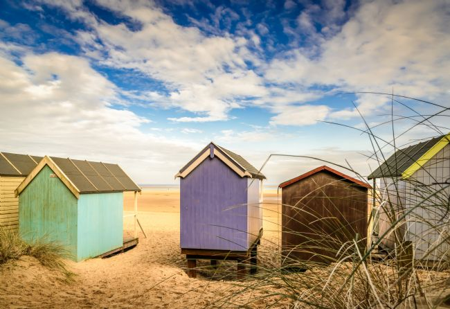 Stephen Mole | Beach huts looking out to sea