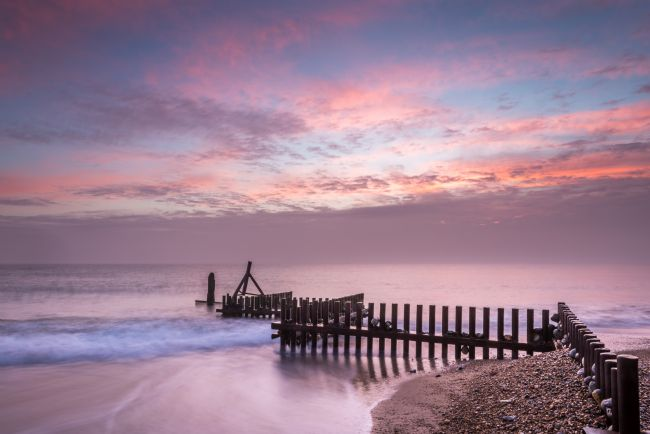 Stephen Mole | Groynes on Caister Beach