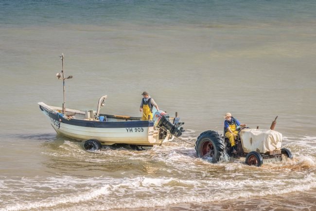Stephen Mole | Tractor and fishing boat