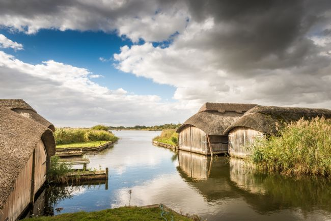 Stephen Mole | Thatched Boat Houses at Hickling