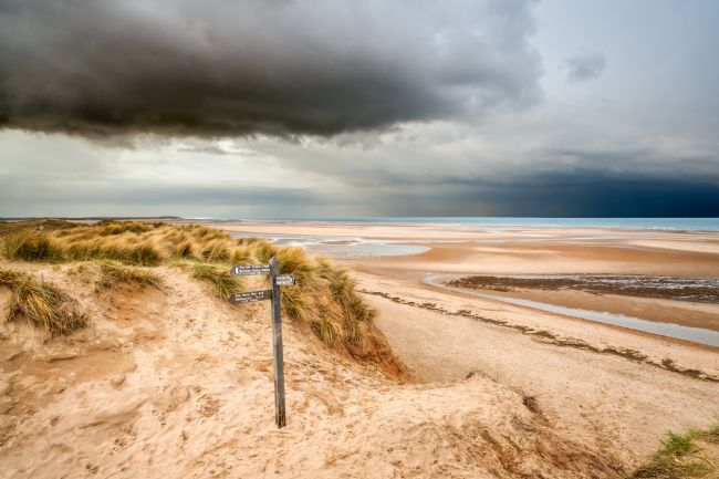 Stephen Mole | Storm Clouds at Burnham Overy Beach