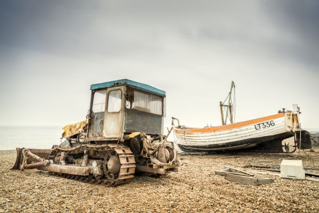 Stephen Mole | Tractor on Aldeburgh Beach