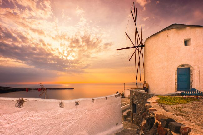 Stephen Mole | Santorini Sunset