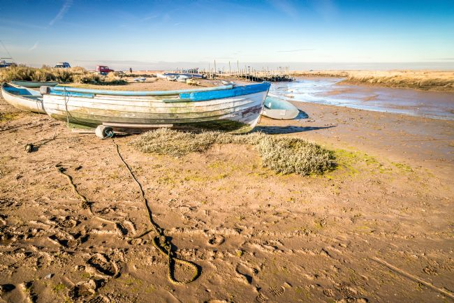 Stephen Mole | Old boat at Morston Quay