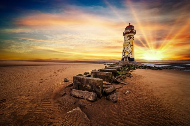 adrian evans | Lighthouse Sunset Wales